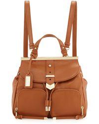 Badgley Mischka - Helena Leather Backpack - Lyst