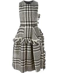 Simone Rocha Frilled Cape Dress white - Lyst