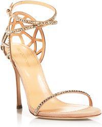 Sergio Rossi Strappy Evening Sandals - Bon Ton High Heel - Lyst