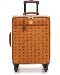 MCM - Small Carry On Trolly Bag - Cognac - Lyst