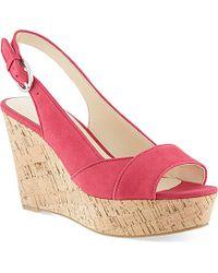 Nine West Caballo Cork Wedge Sandals - For Women - Lyst
