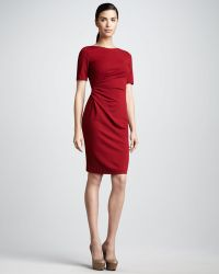 Studio 148 By Lafayette 148 New York Ruched Shortsleeve Dress Womens - Lyst