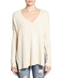 Lush - V-neck Seamed Pullover - Lyst