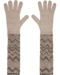 Missoni Metallic Mohairblend Gloves - Lyst