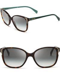 Prada Square Sunglasses - Lyst