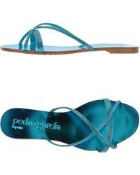 Pedro Garcia Sandals blue - Lyst