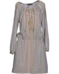 Antik Batik Gray Short Dress - Lyst