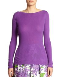Michael Kors Cashmere Boatneck Sweater - Lyst