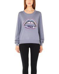 Markus Lupfer Graphic Lara Lip Sequin Sweater - Lyst