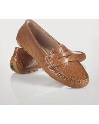 Lauren by Ralph Lauren Snakeembossed Camila Loafer - Lyst