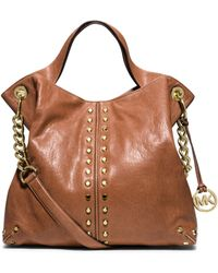 Michael Kors Astor Leather Shoulder Bag - Lyst
