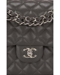 d4464618d54a Madison Avenue Couture - Chanel Dark Grey Quilted Caviar Classic Jumbo  Double Flap Bag - Lyst