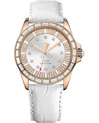 Juicy Couture - Ladies Rose Goldplated Crystal Leather Watch - Lyst