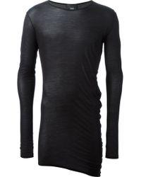 Thamanyah - Draped Asymmetric T-Shirt - Lyst
