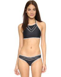 Same Swim   The It Girl Halter Bikini Top - Noir   Lyst