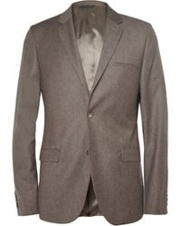 Calvin Klein Brown Brushedwool Suit Jacket - Lyst