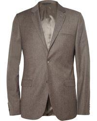 Calvin Klein Brown Brushedwool Suit Jacket - Lyst