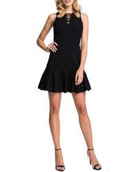 Cynthia Steffe Holland Sleeveless Cutout Dress Rich Black 0 - Lyst