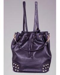 Bebe - Studded Backpack - Lyst