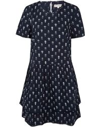 Chinti & Parker Navy Pineapple Cotton Poplin Dress - Lyst