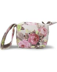 Carven - Floral Small Leather Pouch Bag - Lyst