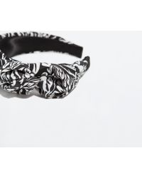 Zara Black Printed Headband - Lyst