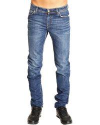 Versus  Jeans Denim Used Slim with Micro Breaks - Lyst