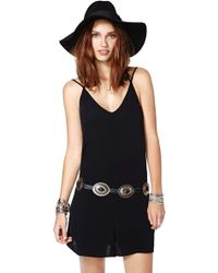 Nasty Gal Back Sabbath Romper - Lyst