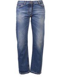 Golden Goose Deluxe Brand Straight Mid-Rise Denim Jeans - Lyst