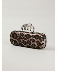 Alexander McQueen 'Knucklebox' Leopard Print Clutch - Lyst