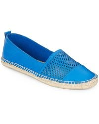 Kenneth Cole Reaction Boom-Arang Perforated Leather Espadrilles - Lyst