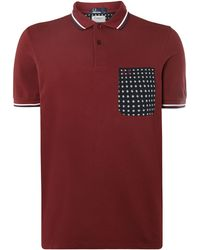 Fred Perry Drakes Floral Pocket Short Sleeve Polo - Lyst