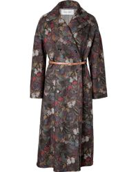Valentino Wool-angora Butterfly Print Coat - Lyst