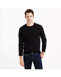 J.Crew Lambswool Birdseye Sweater - Lyst