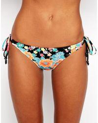Seafolly Kimono Rose Tie Side Bikini Bottoms - Lyst