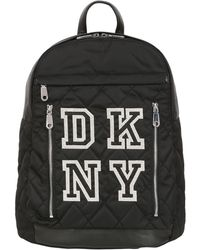 DKNY - Quilted Nylon Backpack With Rubber Trim - Lyst