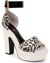 Nicholas Kirkwood Animal-Print Platform Sandals - For Women white - Lyst