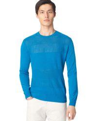 Calvin Klein Opentextured Crewneck Sweater - Lyst
