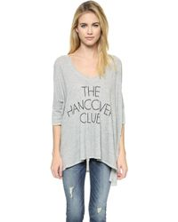 Wildfox Hangover Club Tee - Vintage Lace - Lyst