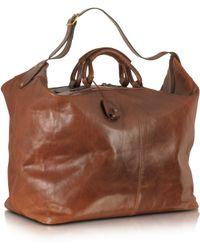 The Bridge - Story Viaggio Marrone Leather Weekender Bag - Lyst