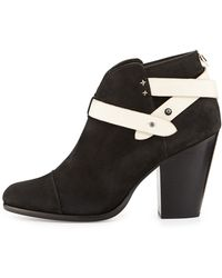 Rag & Bone Harrow Nubuck Ankle Boot Black - Lyst