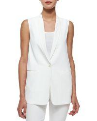 J Brand Padella Single-Button Vest - Lyst