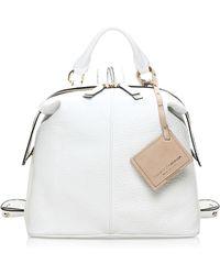 Francesco Biasia - Wembley Embossed Leather Backpack/satchel Bag - Lyst
