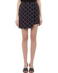 Alexander Lewis - Chain Link-Pattern Theresa Mini-Skirt - Lyst