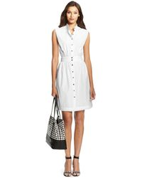 Diane von Furstenberg Dvf Josie Cotton Shirt Dress - Lyst