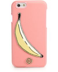 Tory Burch | Banana Saffiano Leather Iphone 6 Case | Lyst