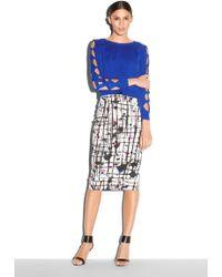 Milly Splatter Print Midi Skirt - Lyst