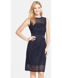 Taylor Dresses Crochet Lace Sheath Dress - Lyst