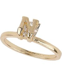 TOPSHOP - N Initial Crystal Stone Ring - Lyst