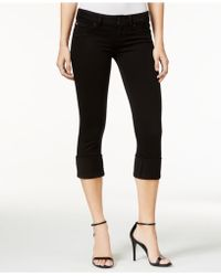 Hudson Jeans - Ginny Cropped Skinny Black Wash Jeans - Lyst